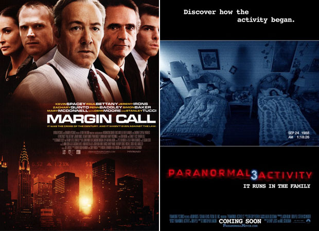 The Mighty Macs, Margin Call, Paranormal Activity 3: Wetpaint Entertainment's Sexy-Not Sexy Weekend Movie Guide, 10/21
