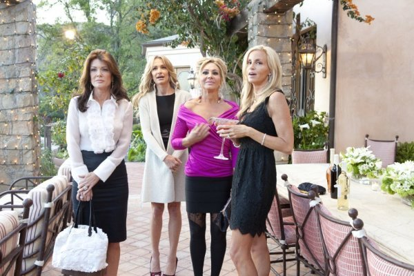 Guess Which Housewife Coaxed Camille Grammer to Return for Season 2