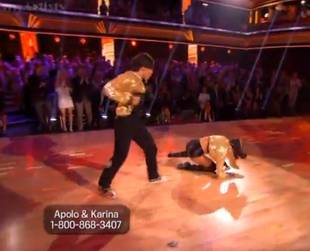 Karina Smirnoff Takes a Nasty Fall During DWTS All-Stars Week 4