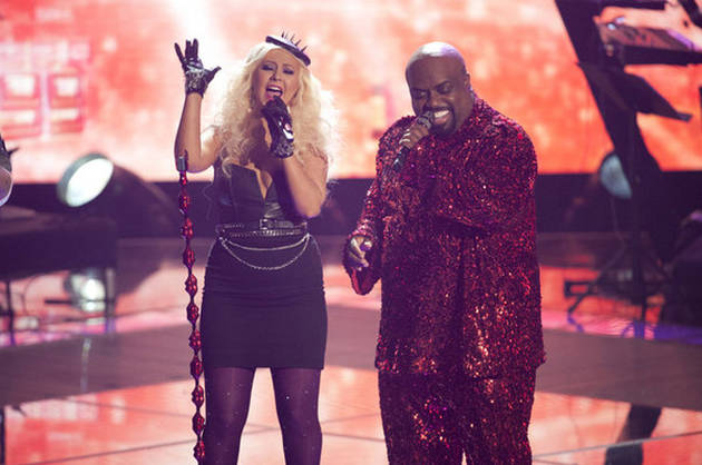 Christina Aguilera and Cee Lo Green to Perform on The Voice Live Results Show Tonight, Nov. 13, 2012!