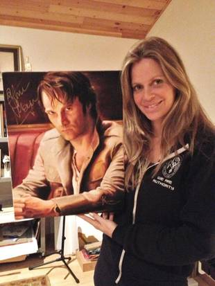Kristin Bauer van Straten Painted a Picture of Stephen Moyer, and You Can Own It! (PHOTO)