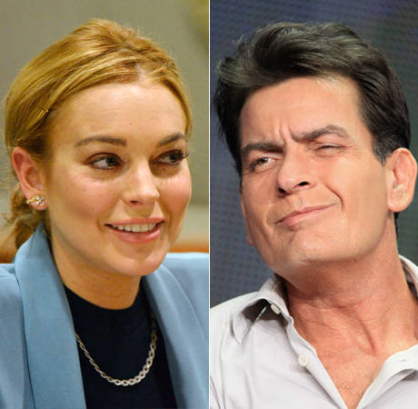 Is Lindsay Lohan Dating Charlie Sheen? Only in Scary Movie 5