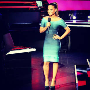 Christina Milian Wears Herve Leger Bandage Dress on The Voice Season 3 (PHOTO)