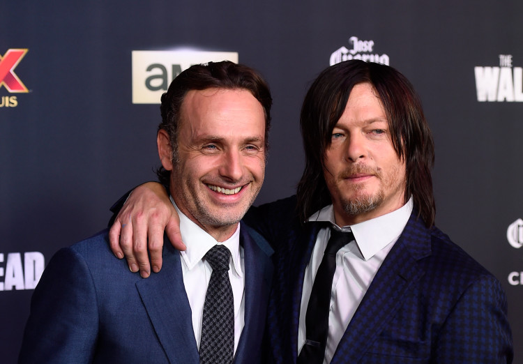 Andy Lincoln and Norman Reedus at The Walking Dead Season 5 Premiere in LA in October 2014