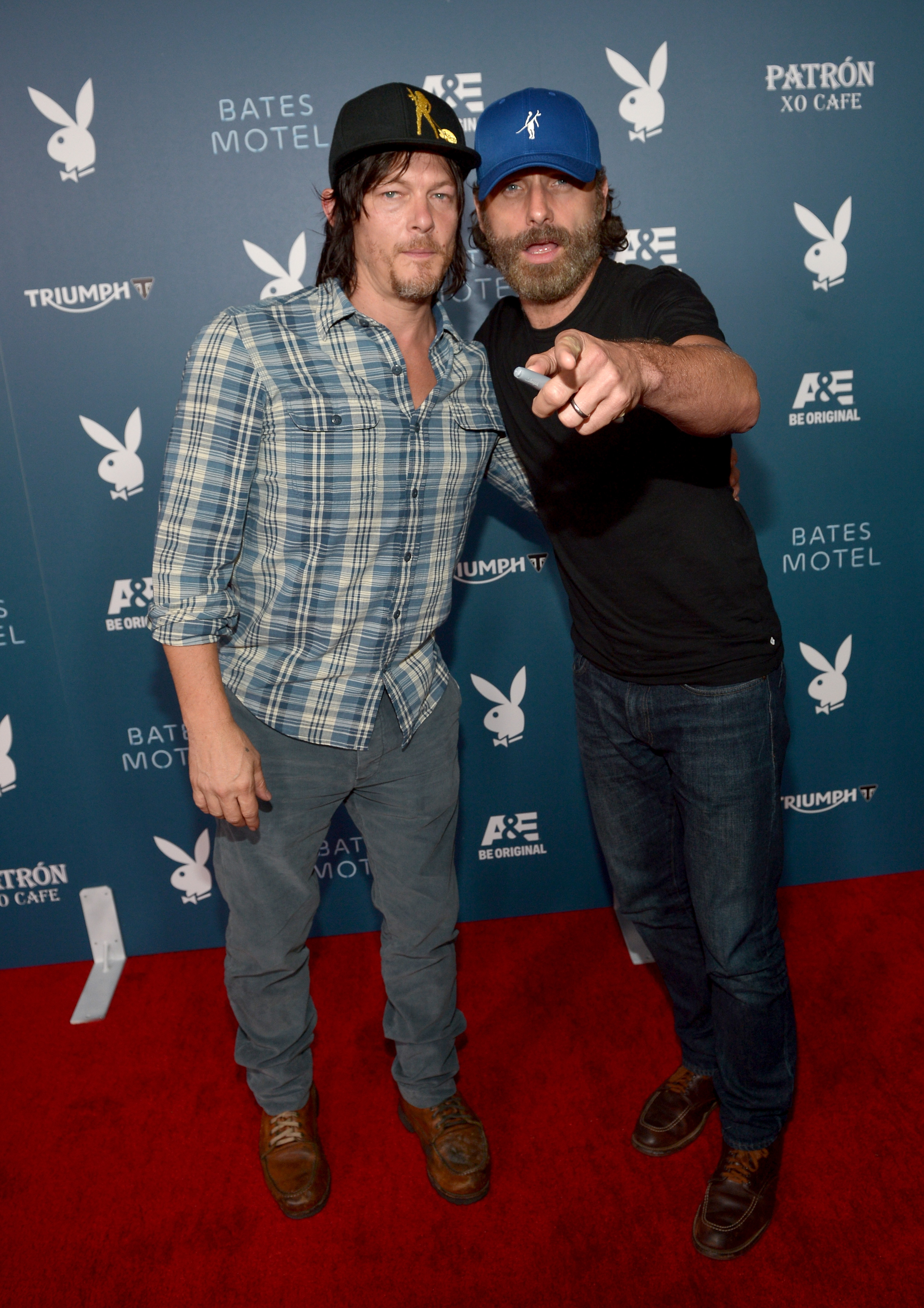 Norman Reedus and Andy Lincoln at a Bates Motel Event at San Diego Comic Con in July 2014