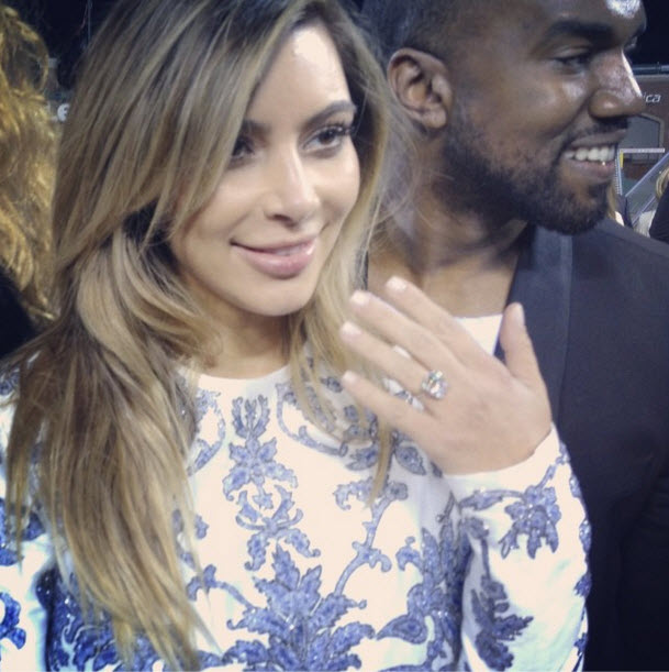 Kim Kardashian and Kanye West Proposal: Was Baby North West There?