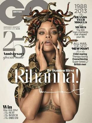 Rihanna Channels Medusa With Topless, Snake-Filled British GQ Cover