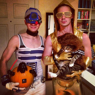 Chris Colfer Posts First Photo With Boyfriend Will — In Matching Halloween Costumes!
