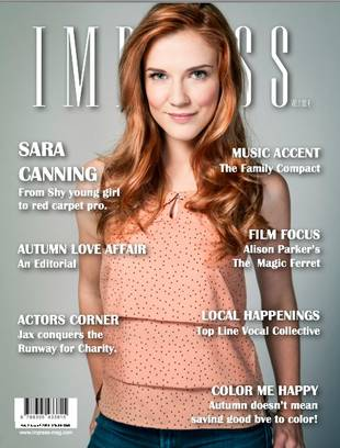 Sara Canning Dazzles on Impress Magazine's Latest Cover (PHOTO)