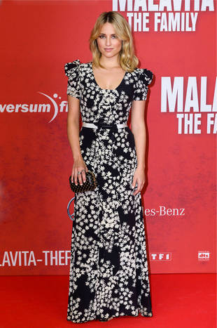 Dianna Agron's Dizzying Floral Gown at The Family Premiere — Hot or Not?