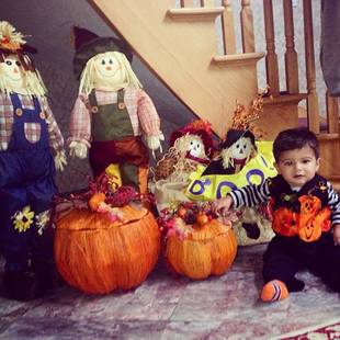 Snooki's Son Lorenzo Is a Little Pumpkin — Check Out the Adorable Halloween Pic!