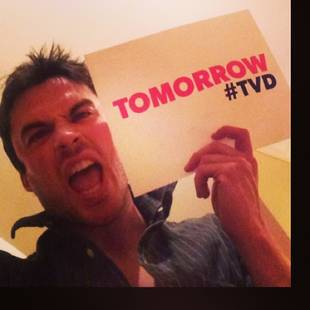 Ian Somerhalder and Nina Dobrev Share Excitement For Vampire Diaries Premiere (PHOTO)