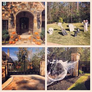 Kim Zolciak Goes All Out Decorating New Home For Halloween (PHOTO)