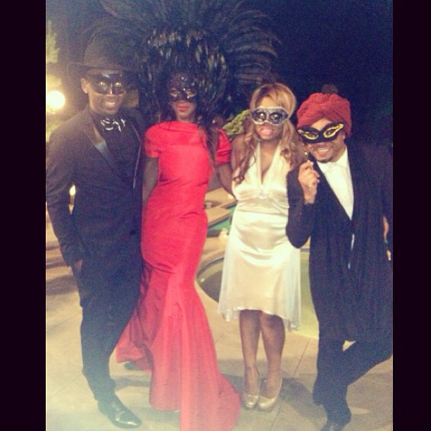 Kenya Moore Looks Red Hot as She Hosts Masquerade Ball (PHOTO)