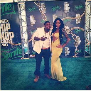 Lil Scrappy Takes His Bambi to the 2013 BET Hip Hop Awards: See Her Revealing Dress! (PHOTO)