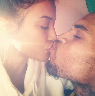 Chris Brown Kisses Karrueche Tran — Saying Goodbye Before Rehab? (PHOTO)