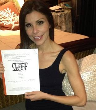 Heather Dubrow Heads Off to Film Hawaii Five-O (PHOTO)