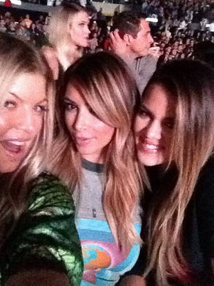 New Moms Kim Kardashian and Fergie: Night Out at Kanye West Concert