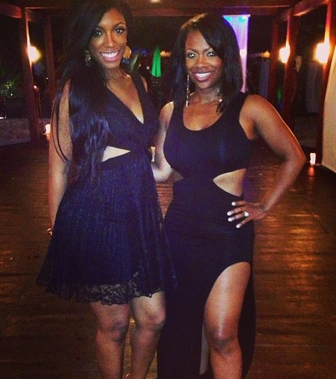 Kandi Burruss and Porsha Stewart Pose Together in Sexy Dresses (PHOTO)