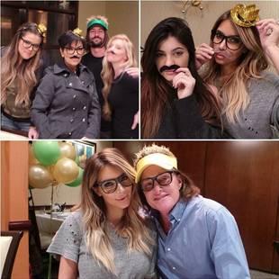 Kim and Khloe Kardashian Support Bruce Jenner on His Birthday [PHOTOS]