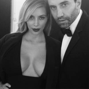 Kim Kardashian Bares Cleavage Alongside Hot Date — It's Not Kanye West!