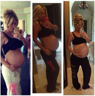 Pregnant Kim Zolciak Shows Off Massive Baby Belly! (PHOTO)