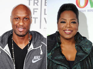Oprah Winfrey Trying to Interview Lamar Odom, Lindsay Lohan Style
