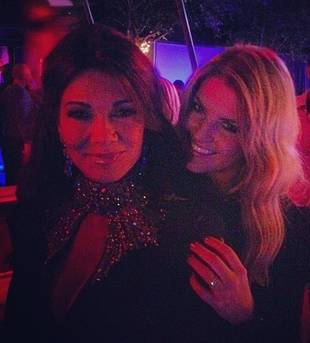 Lisa Vanderpump Cuddles Up With WHO at RHoBH Premiere Party? (PHOTO)