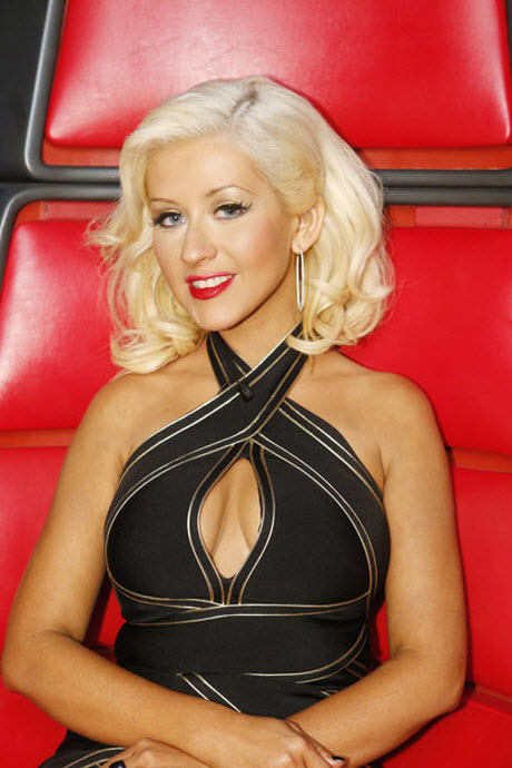 Christina Aguilera's Cleavage-Baring Voice Outfits — On The Money or a Bit Too Much?