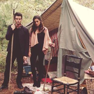The Originals' Daniel Gillies Gets Stabby With Phoebe Tonkin at a Campsite! (PHOTOS)