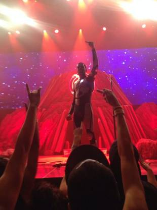 Watch Kid Cudi Angrily Push a Fan Off Stage During Concert (VIDEO)
