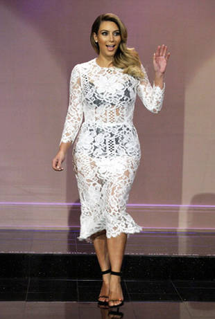 Kim Kardashian Flaunts Massive Weight Loss in See-Through White Dress