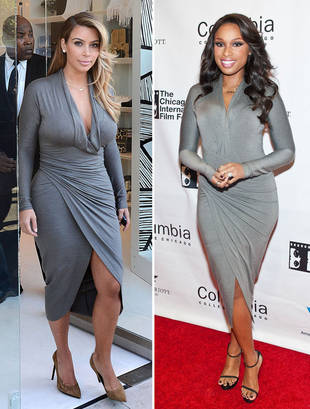 Kim Kardashian and Jennifer Hudson Wear the Same Dress on the Same Day  — Who Wore It Best?