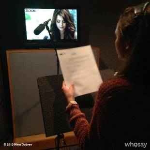 Nina Dobrev's Behind-the-Scenes Vampire Diaries Photo — What's She Doing in the Studio?