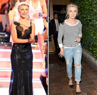 Julianne Hough Glammed Up on Dancing With the Stars vs. Dressed Down: Which Look Is Better? (PHOTO)