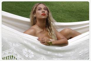 Beyonce Topless — and Gorgeous — in Hammock Portrait (PHOTO)