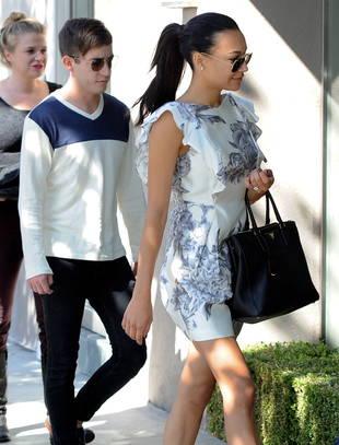 Engaged Naya Rivera Goes Wedding Dress Shopping with Glee Co-Star!