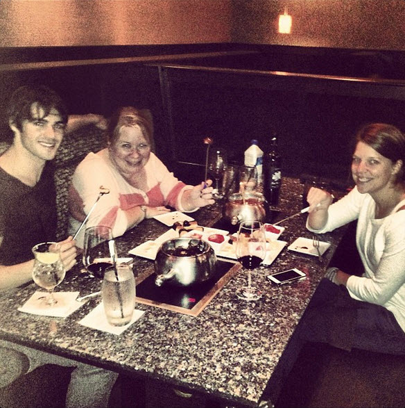 Steven R. McQueen and Julie Plec Share Fondue During Adorable Night Out (PHOTO)