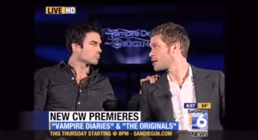 Check Out Ian Somerhalder and Joseph Morgan Survive Super Awkward Interviews (VIDEOS)