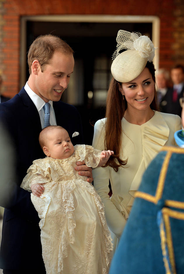 Prince George's Official Christening Portrait — With William, Kate, and the Queen