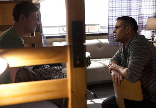 "Watch: Mark Salling's Puck Sings ""No Surrender"" in Glee's Cory Monteith Tribute"