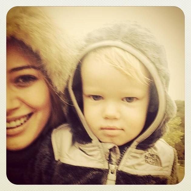 Hilary Duff's Son Luca: So Grown Up! 19-Month Old is Pouty and Adorable