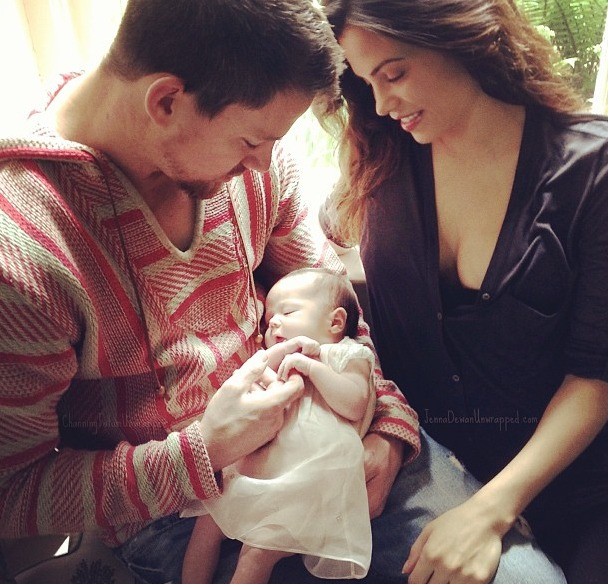 Channing Tatum Beatboxes to Calm Daughter Everly