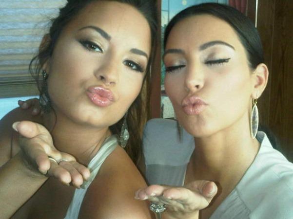 Kanye West Better Keep Kim Kardashian Happy, Says Demi Lovato