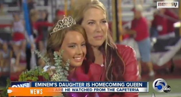 Eminem Watches as Daughter Hailie Scott Is Crowned Homecoming Queen (VIDEO)