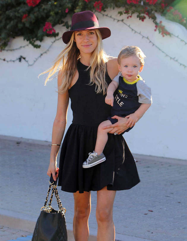 Kristin Cavallari Goes Makeup-Free While Out With 13-Month-Old Son