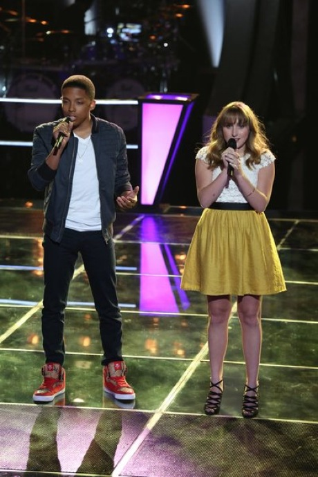"Watch Anthony Paul and Caroline Pennell Sing ""As Long As You Love Me"" on The Voice 2013 Battle Rounds (VIDEO)"