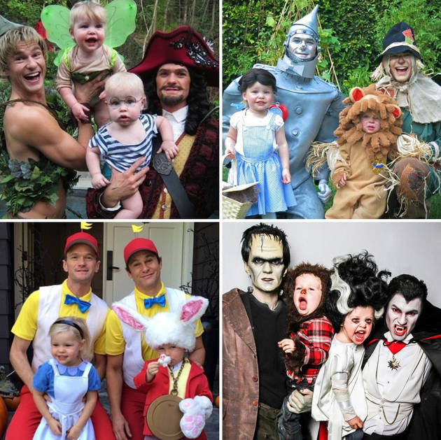 neil patrick harris family halloween costumes through the