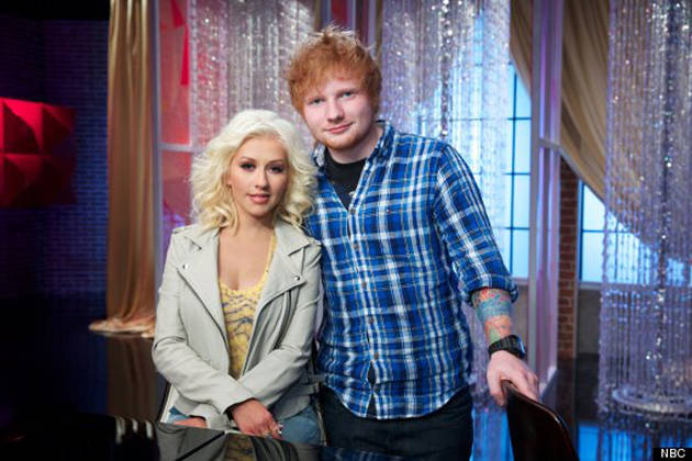 Ed Sheeran Admits to Ogling Christina Aguilera's Boobs: She Wasn't Wearing a Bra!