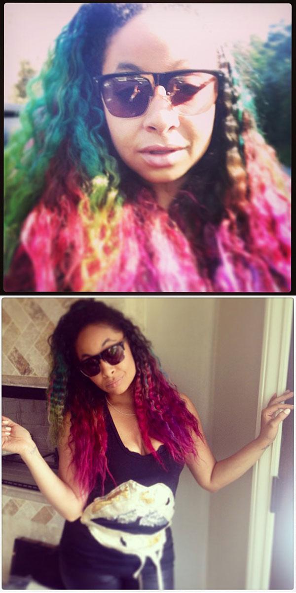24 Celebrities With Rainbow Colored Hair Photos